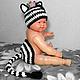 """Для новорожденных, ручной работы. Ярмарка Мастеров - ручная работа. Купить Комплект для фотосессий """"Зебра"""" (для фото, костюм зебры). Handmade."""
