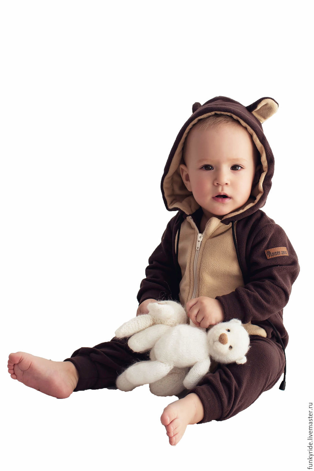 Romper infant Brown Bear BROWN BEAR FUNKY HOMESUIT KIDS, Overalls for children, Magnitogorsk,  Фото №1