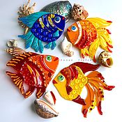Дизайн и реклама handmade. Livemaster - original item decor glass fusing Fish. Handmade.