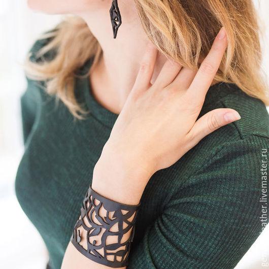 """Браслеты ручной работы. Ярмарка Мастеров - ручная работа. Купить Кожаный браслет  """"Бланко"""". Handmade. Браслет кожаный"""