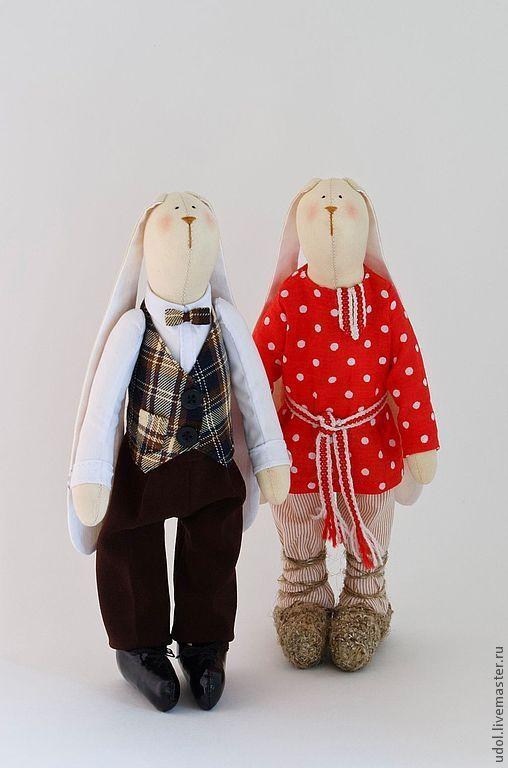 Куклы Тильды ручной работы. Ярмарка Мастеров - ручная работа. Купить Братец Кролик и братец Заяц. Handmade. Заяц тильда