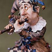 Статуэтки ручной работы. Ярмарка Мастеров - ручная работа Шут с флейтой. Handmade.