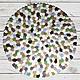 Вязаный ковер ручной работы «Замшелые камни». Оригинальный авторский дизайн.