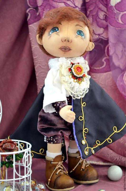 Коллекционные куклы ручной работы. Ярмарка Мастеров - ручная работа. Купить Маленький Принц Альберт.... Handmade. Тёмно-фиолетовый