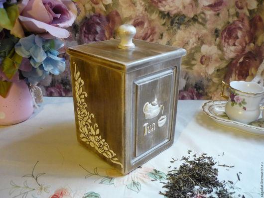 Кухня ручной работы. Ярмарка Мастеров - ручная работа. Купить Короб для чая ,,Чай с молоком,,. Handmade. Комбинированный, деревянный, для кухни