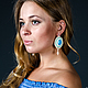 Нежные красивые серьги, голубые серьги, серьги для невесты