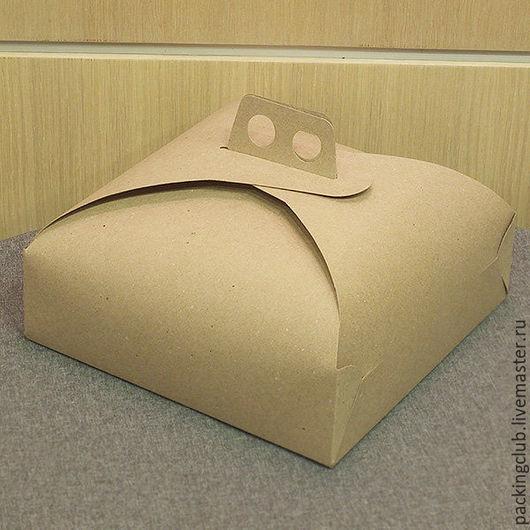 Упаковка ручной работы. Ярмарка Мастеров - ручная работа. Купить Коробка для торта, пирожных и пряников.. Handmade. Коричневый, картонная коробка