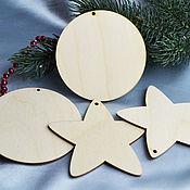Материалы для творчества handmade. Livemaster - original item Geometric shapes of a circle and a star, blanks for creativity. Handmade.