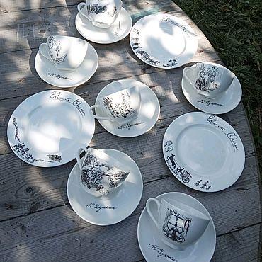 """Посуда ручной работы. Ярмарка Мастеров - ручная работа Чайный сервиз """"Евгений Онегин""""  15 предметов. Handmade."""
