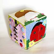 Куклы и игрушки ручной работы. Ярмарка Мастеров - ручная работа Развивающий куб с улиткой. Handmade.