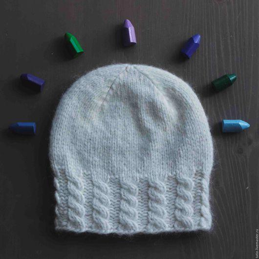 Шапки ручной работы. Ярмарка Мастеров - ручная работа. Купить Белая шерстяная шапка с косами. Handmade. Шапка, шапка на зиму