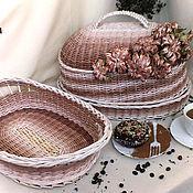 Для дома и интерьера ручной работы. Ярмарка Мастеров - ручная работа Плетеный набор для кухни Tiramisu. Handmade.