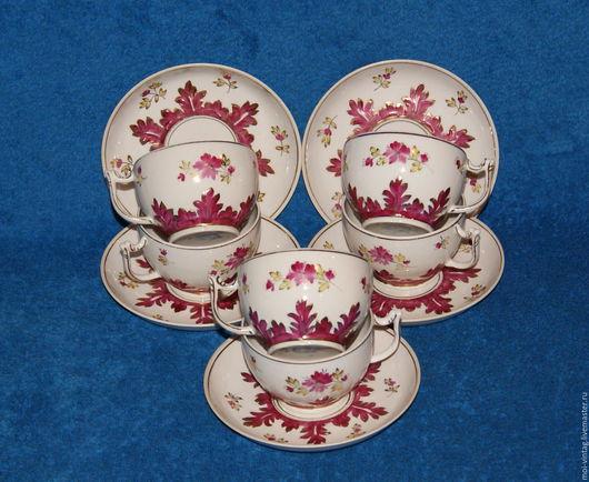 Винтажная посуда. Ярмарка Мастеров - ручная работа. Купить чайная пара барбарис 40е рсфср ммп дмитровский вербилки. Handmade.