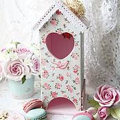 """Для дома и интерьера ручной работы. Ярмарка Мастеров - ручная работа Чайный домик """"Roses"""", для чайных пакетиков.. Handmade."""