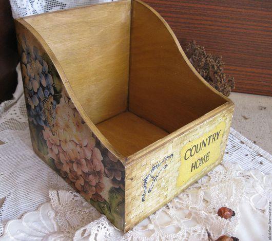 Корзины, коробы ручной работы. Ярмарка Мастеров - ручная работа. Купить Короб для специй Гортензии стиль кантри. Handmade. Короб