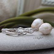 Украшения handmade. Livemaster - original item Yodirovannoye earrings with natural pearl