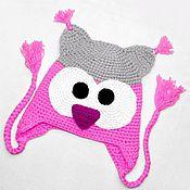Работы для детей, ручной работы. Ярмарка Мастеров - ручная работа Шапочка сова (детская шапка, шапочка детская, зимняя шапочка) розовый. Handmade.
