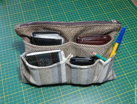 Органайзеры для сумок ручной работы. Ярмарка Мастеров - ручная работа. Купить Органайзер в сумку (тинтамар). Handmade. Вкладыш в сумку