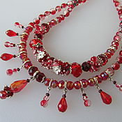 """Колье, ожерелье, короткие бусы, украшение """"Не проходите мимо""""!"""
