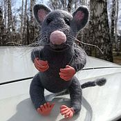 Мягкие игрушки ручной работы. Ярмарка Мастеров - ручная работа Мышь. Handmade.