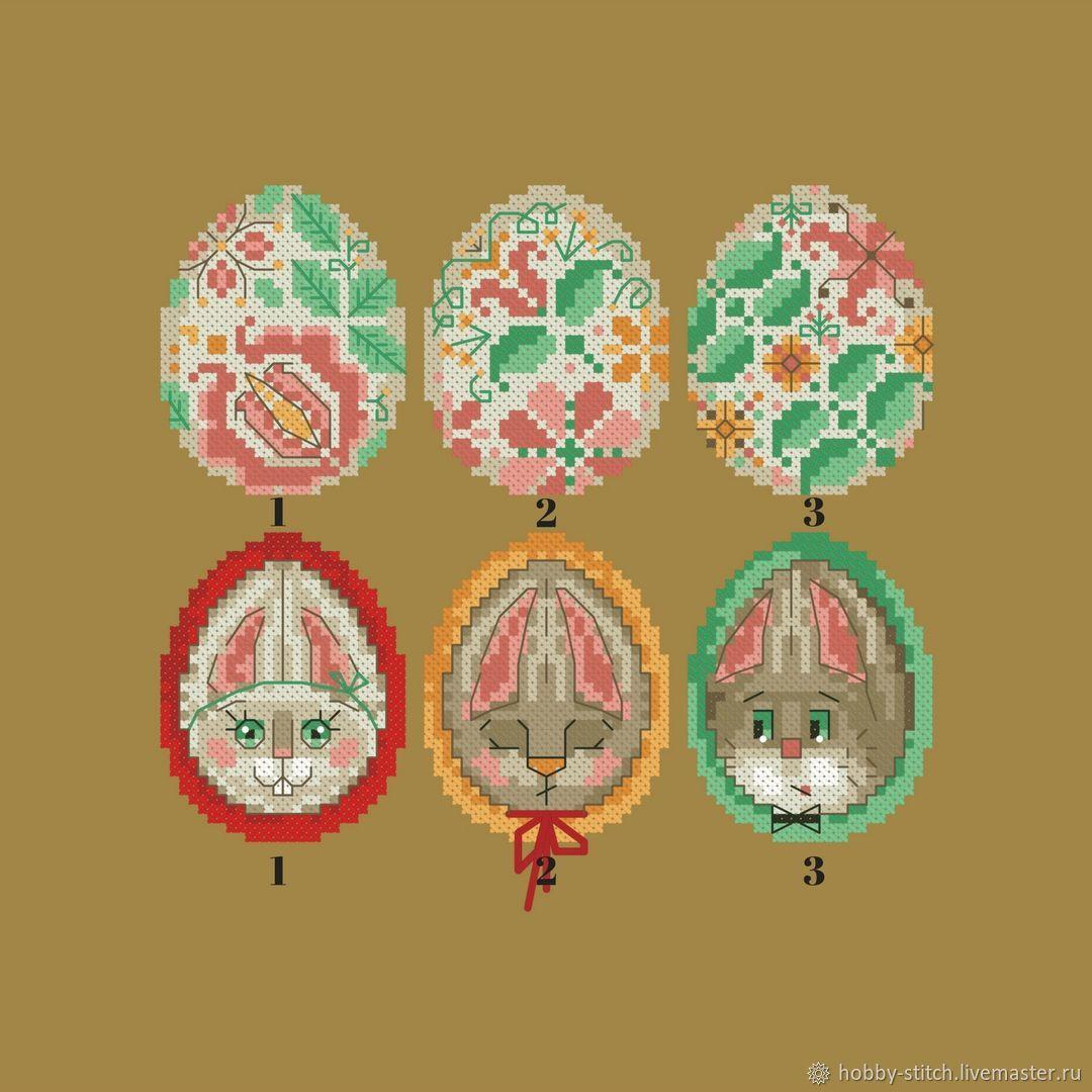 Пасхальные яйца, Схема для вышивания, Схемы для вышивки, Томск,  Фото №1