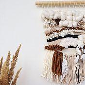 Настенное панно - гобелен . Современное ткачество . Декор на стену