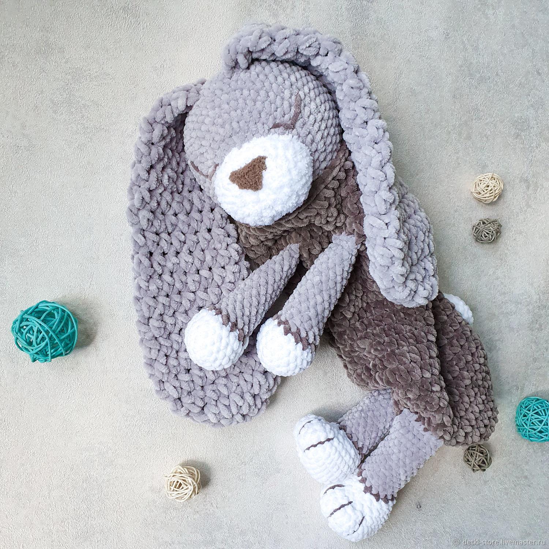 Пижамница Зайка с большими ушками - игрушка для хранения пижамы, Подарки для новорожденных, Пенза,  Фото №1