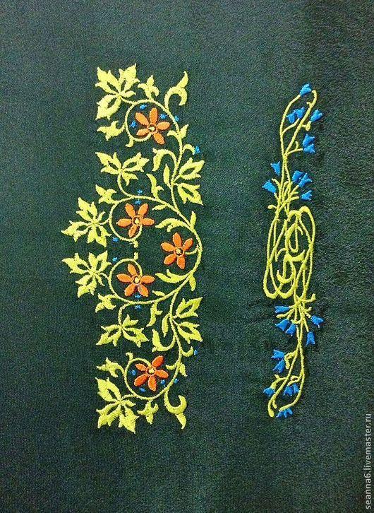 """Аппликации, вставки, отделка ручной работы. Ярмарка Мастеров - ручная работа. Купить Вышивка на одежде, аппликация, картинка, картина """"Цветущая ветвь"""". Handmade."""