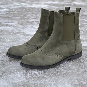 Обувь ручной работы. Ярмарка Мастеров - ручная работа Челси  зеленого цвета. Handmade.