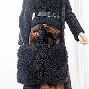 Одежда ручной работы. Ярмарка Мастеров - ручная работа Муфта сумка каракуль планшет стильно мехово тепло необычно ультросовре. Handmade.