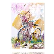 Картины и панно ручной работы. Ярмарка Мастеров - ручная работа Принт Весенний велосипед. Handmade.