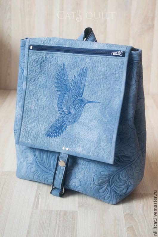 """Рюкзаки ручной работы. Ярмарка Мастеров - ручная работа. Купить Рюкзак """"Колибри"""". Синий. Handmade. Синий, рюкзачок, подарок, хлопок"""