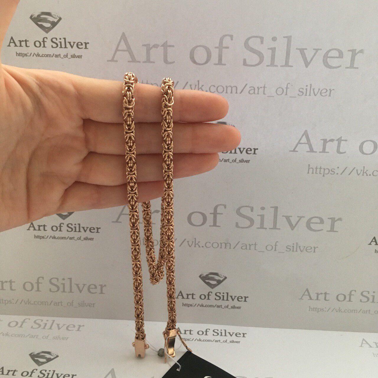 Украшения для мужчин, ручной работы. Серебряная позолоченная цепочка  Мальвина. Серебро с позолотой. faf2ef81357