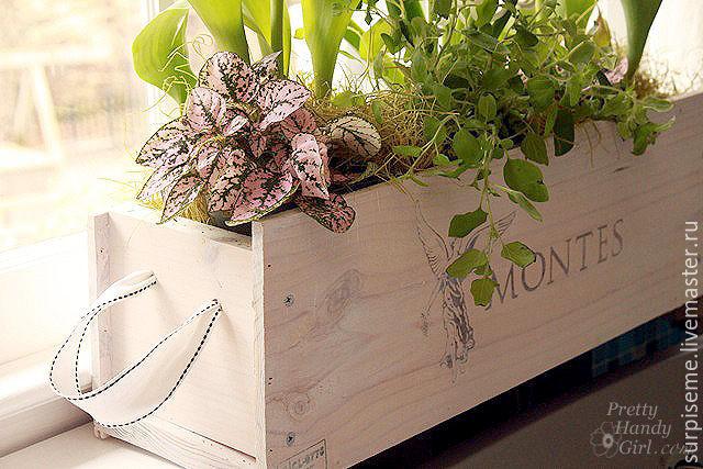 Коробки деревянные для цветов
