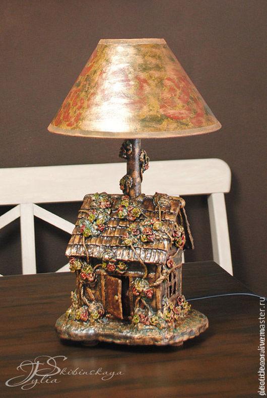 """Освещение ручной работы. Ярмарка Мастеров - ручная работа. Купить Лампа-ночник """"Плетистые розы"""". Handmade. Коричневый, подарок"""