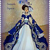 Куклы и игрушки ручной работы. Ярмарка Мастеров - ручная работа Куколка-шкатулочка Миледи в синем. Handmade.