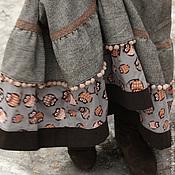 """Одежда ручной работы. Ярмарка Мастеров - ручная работа Зимняя юбка """"Совушки"""". Handmade."""