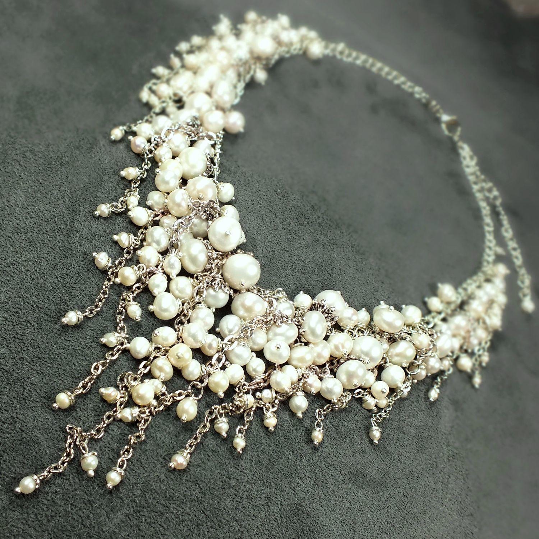 99abbe53912cc Necklaces & Beads handmade. Livemaster - handmade. Buy Pearl Parfait, handmade  Necklace of ...