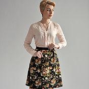 Одежда handmade. Livemaster - original item Skirt Floral bouquets on black. Handmade.