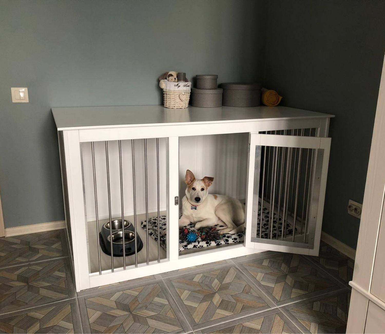 Деревянная клетка-тумба для собаки, Вольеры, Череповец,  Фото №1