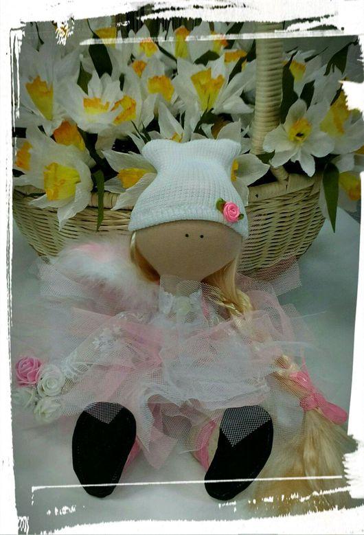 Куклы тыквоголовки ручной работы. Ярмарка Мастеров - ручная работа. Купить Интерьерная куколка Снежана в пачке. Handmade. Интерьерная кукла