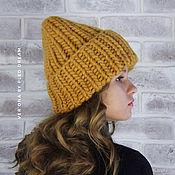 Шапки ручной работы. Ярмарка Мастеров - ручная работа Зимняя шапка из толстой пряжи крупной вязки, вязаная шапка на заказ. Handmade.