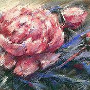 Картины и панно ручной работы. Ярмарка Мастеров - ручная работа Энергичный пион (пастель). Handmade.