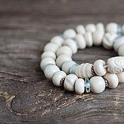 комплект Слоновая кость ожерелье +браслет