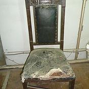 Винтаж ручной работы. Ярмарка Мастеров - ручная работа Реставрация старинного дубового стула. Начало 20 в.. Handmade.