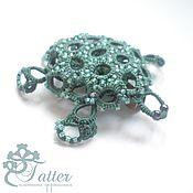 Украшения handmade. Livemaster - original item Turquoise brooch Sea Turtle. Handmade.