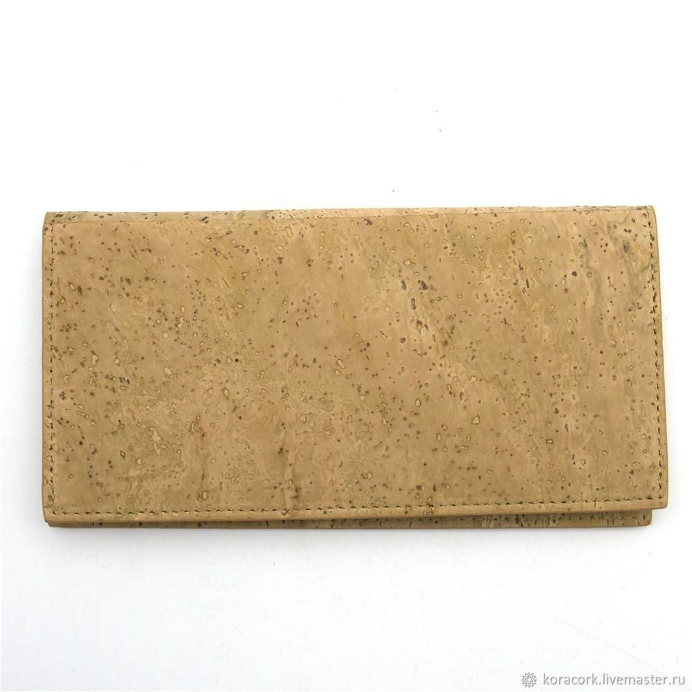 Bags & Accessories handmade. Livemaster - handmade. Buy Eco wallet made of handmade Portuguese cork.