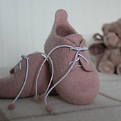 """Пинетки ручной работы. Ярмарка Мастеров - ручная работа Пинетки: Шерстяная обувь """"Доброе утро"""". Handmade."""