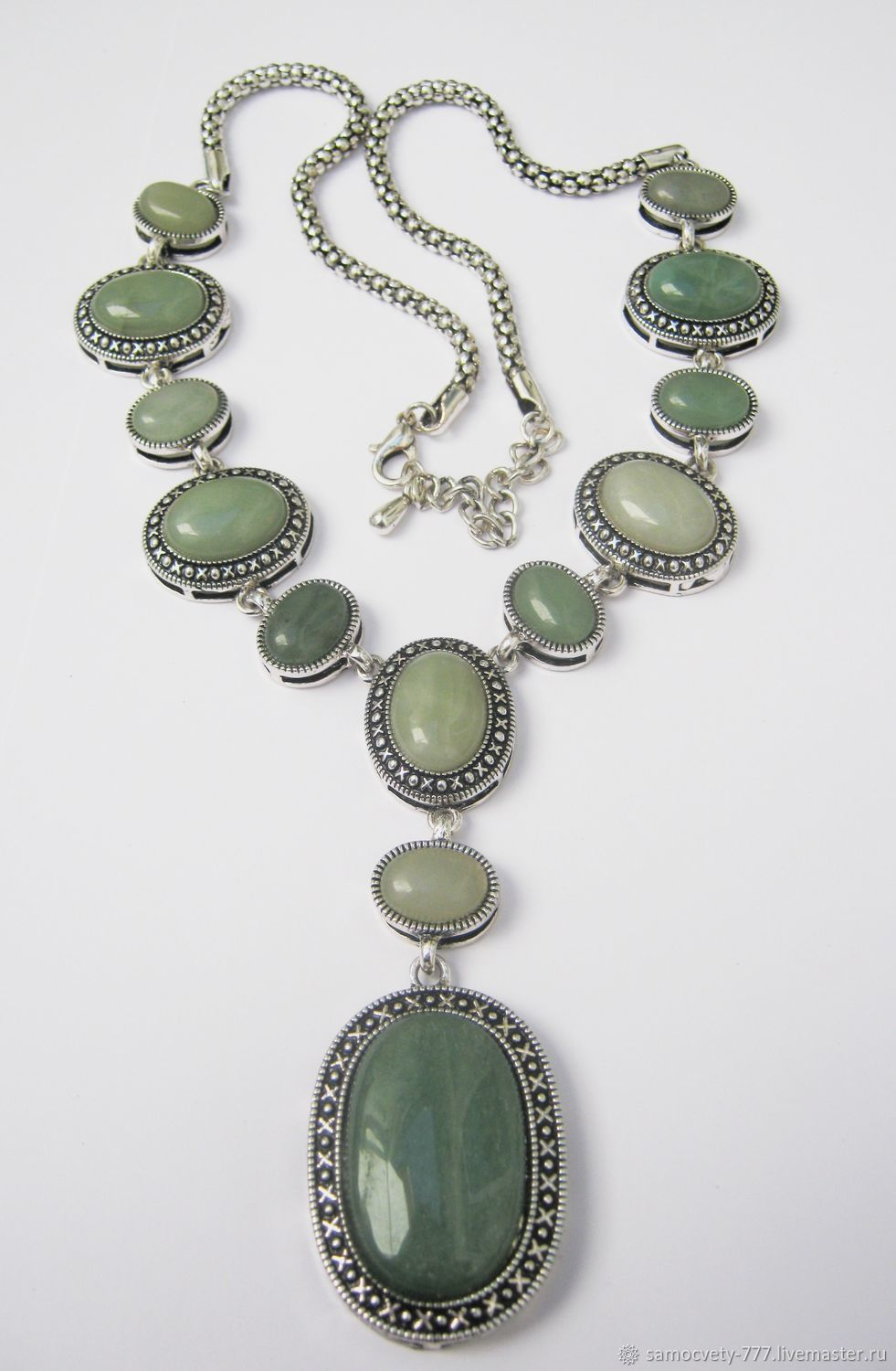 Beautiful decoration ' green aventurine', Necklace, Feodosia,  Фото №1