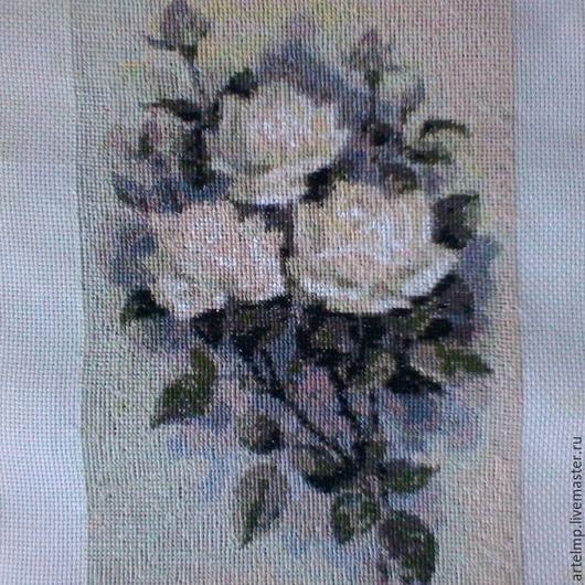 """Картины цветов ручной работы. Ярмарка Мастеров - ручная работа. Купить Вышивка крестом """"Букет роз"""". Handmade. Комбинированный"""